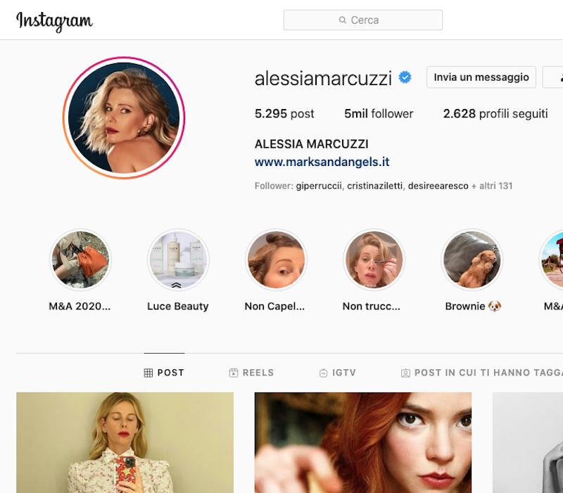 Alessia Marcuzzi Instagram, scopriamola insieme in 2 minuti
