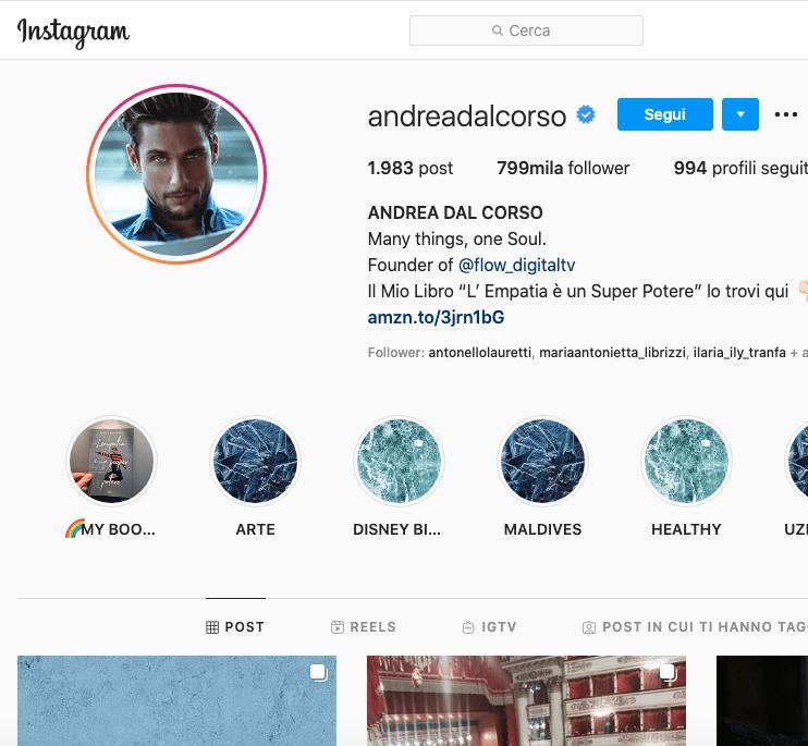 Andrea Dal Corso Instagram, scopriamo il profilo!