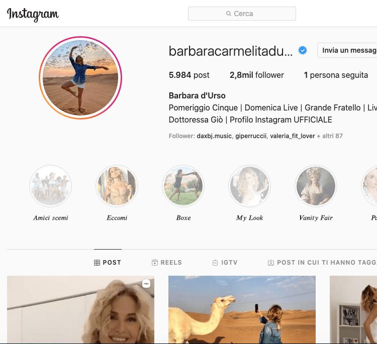 Barbara D'Urso Instagram! Scopriamo il profilo in 1 minuto...