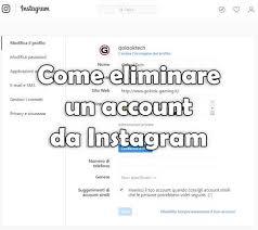 come si fa ad eliminare un profilo instagram 1