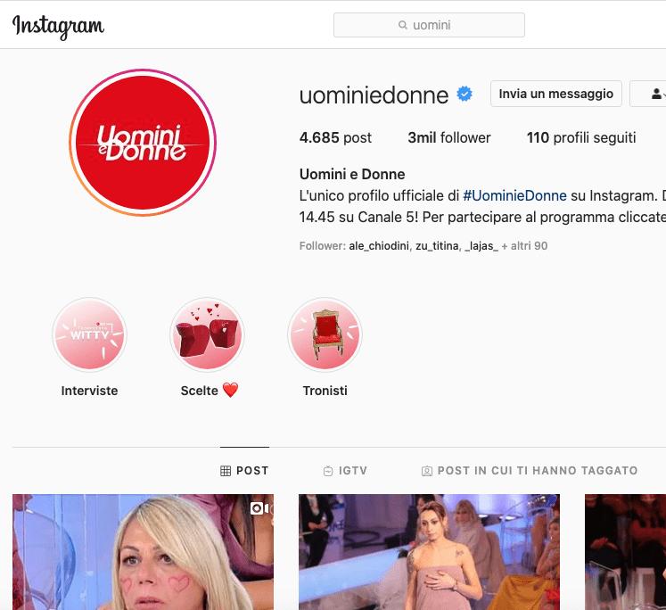Uomini e Donne Instagram, scopriamo il profilo!