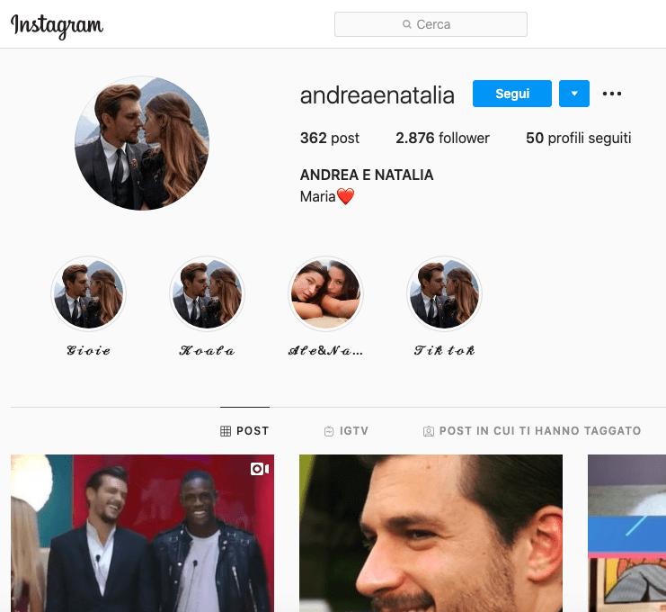 Andrea e Natalia Instagram