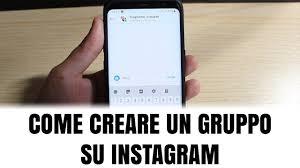 Come si crea un gruppo su instagram