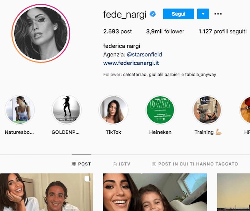 Federica Nargi Instagram : tutto su di lei in 2 minuti