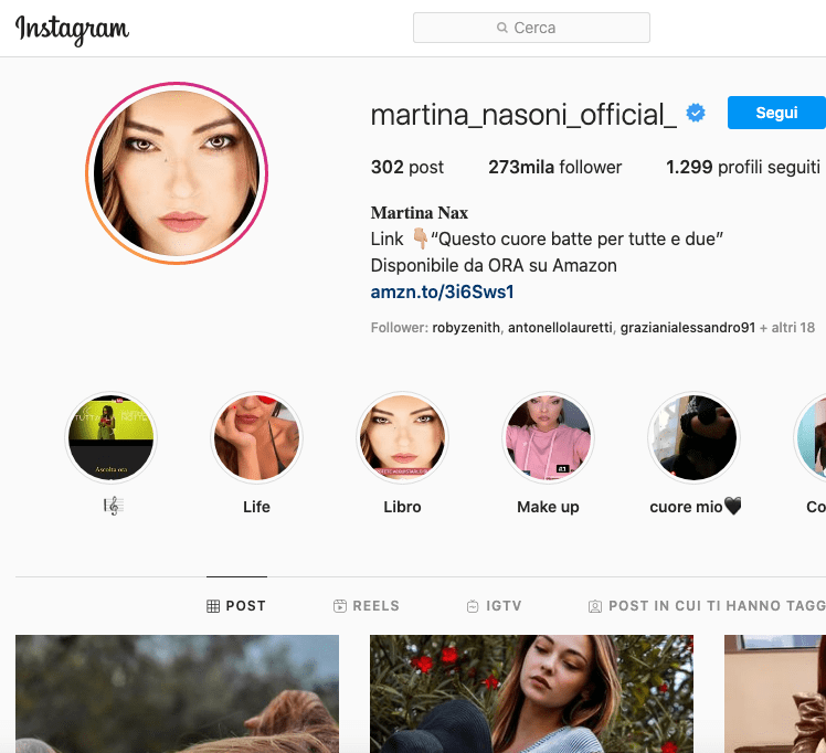 Martina Nasoni Instagram, scopriamo il profilo!