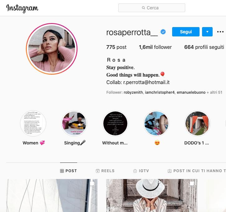 Rosa Perrotta Instagram, scopriamo il profilo!