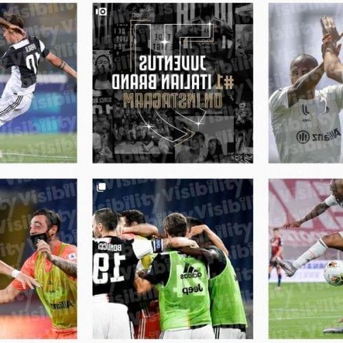 Juventus instagram: la squadra top